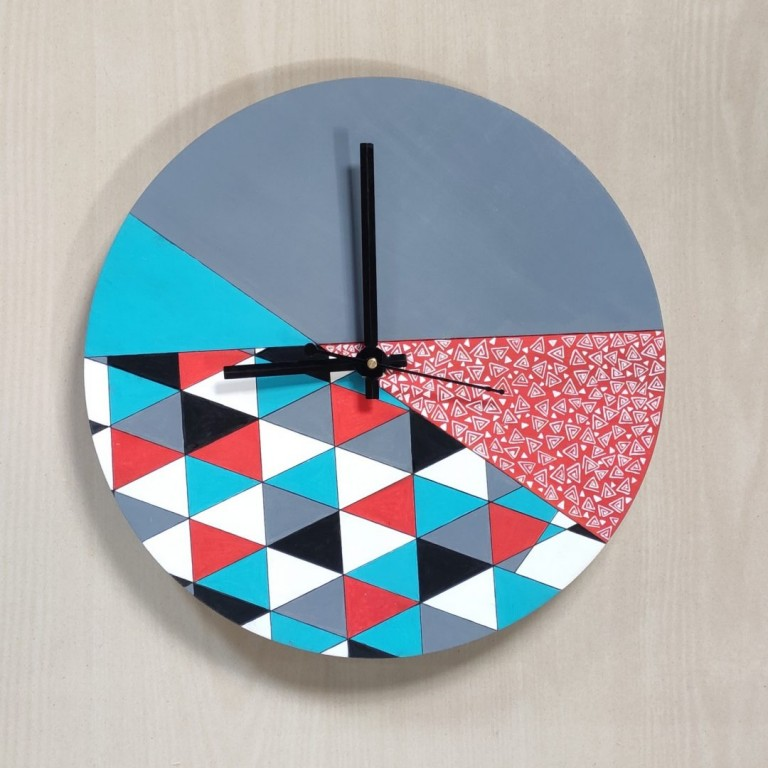 Geometric Resin Wall Clock