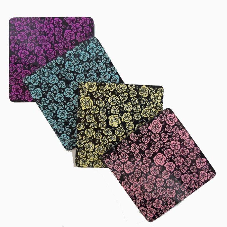 Colourful Rose Coasters | Colourful Rose Coasters |
