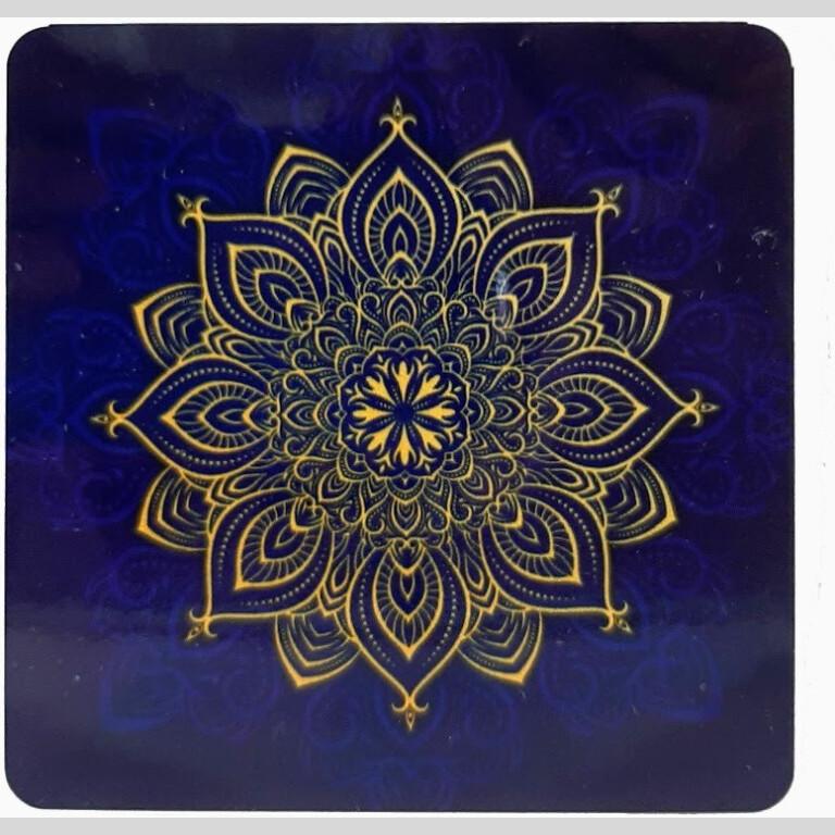 Blue Mandala Coasters   Blue Mandala Coasters  