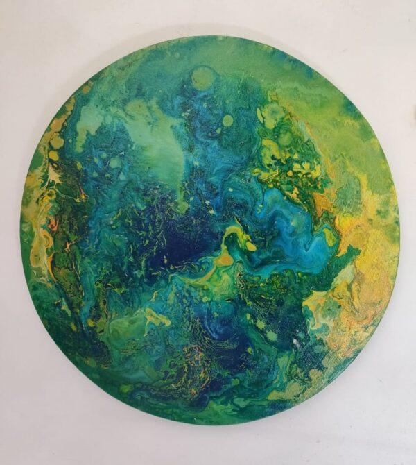 Earthy Fluid Art Frame