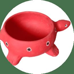Blooming Rose Tortoise Flower Pot