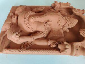 Ganpati Terracotta Murti