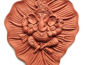 Ganpati on Leaf Wall Hanging
