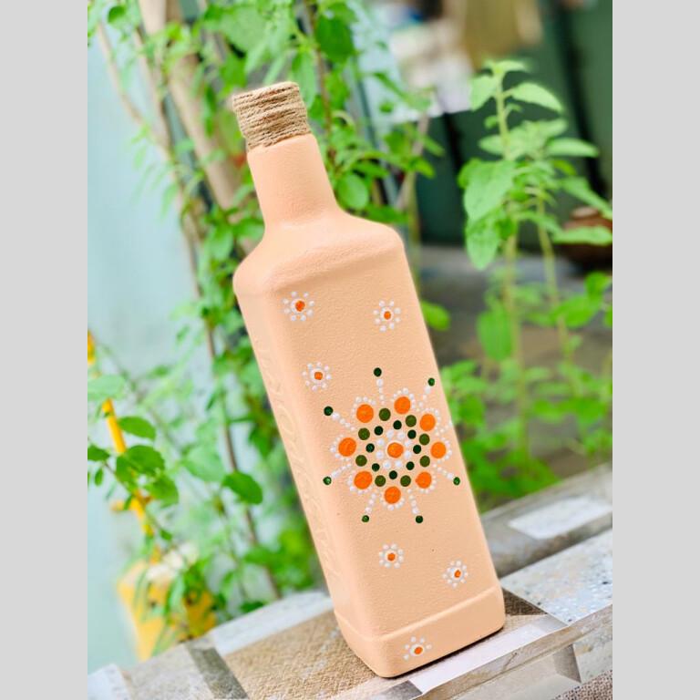 Dot Art Decorative bottle  