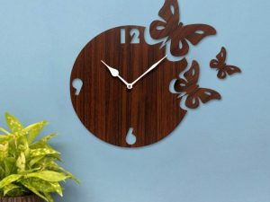 Moon Butterfly Designer Wall Clock