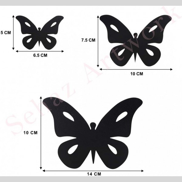 Artworks Black Moon Butterfly Designer Wall Clock | Black Moon Butterfly Designer Wall Clock |