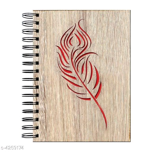 Peacock Feather Printed Notebook