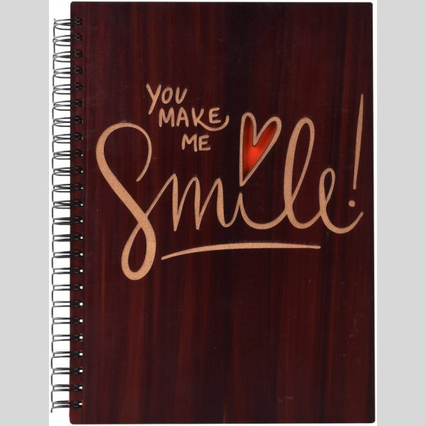 You Make Me Smile Printed Notebook