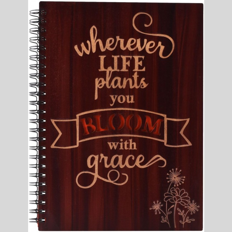 Bloom With Grace Printed Notebook