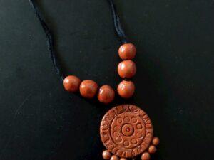 Round Clay Pendant