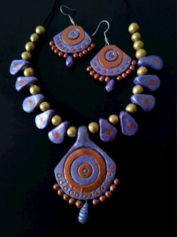 Colourful Clay Terracotta Neckset