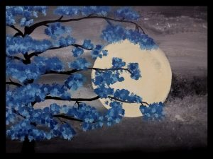 Night Moon Painting