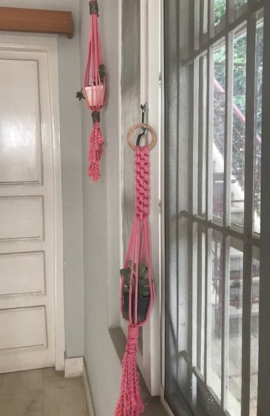 Twin Pink Pot Holders