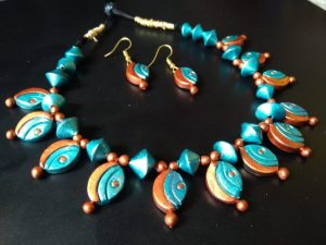 Oval Shaped Terracotta Necklace Set
