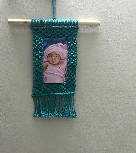 Macrame Photo Frame