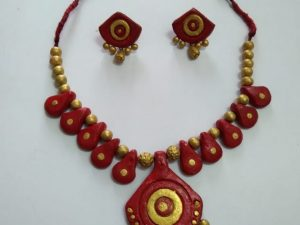 Colourful Clay Terracotta Neckset