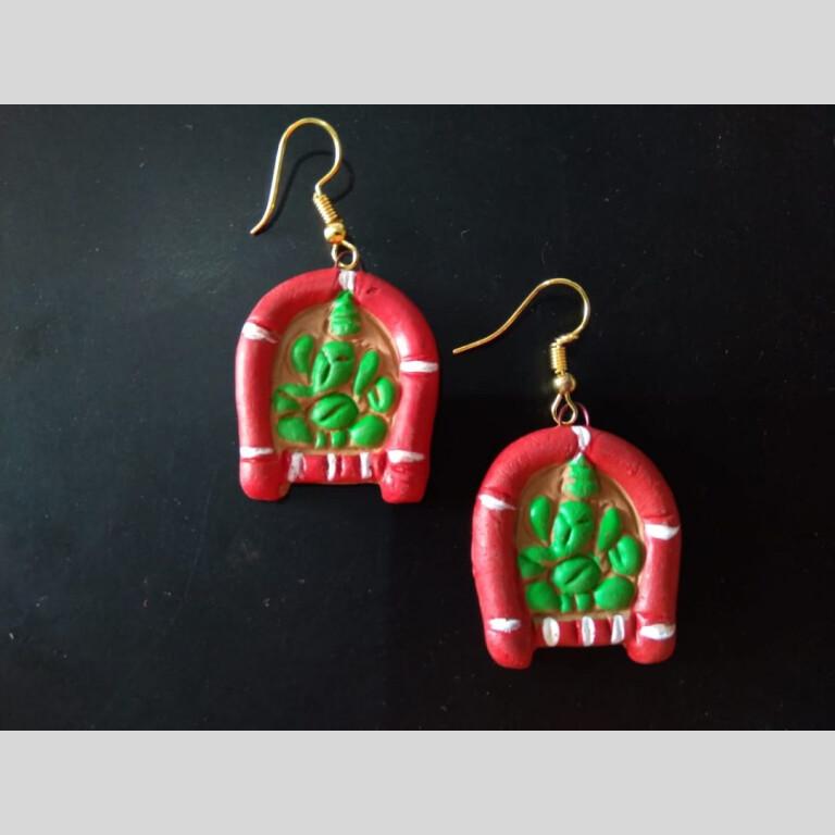 Terracotta Ganesha Earrings