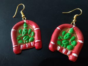 Terracotta Ganesha Earrings