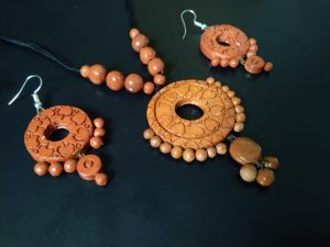 Natural Clay Crafted Necklace Set