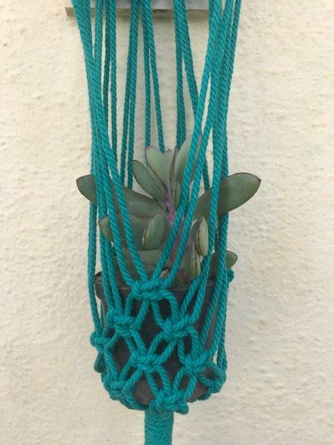Macrame Green Pot Holder |