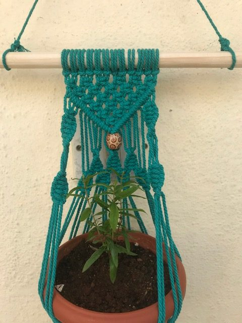 Macrame Green Pot Holder | Macrame Green Pot Holder |