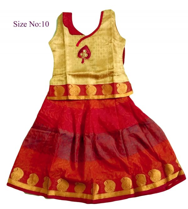 Red Ethnic Wear For Girls Size 10  