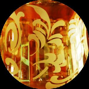Orange Etched Candle Vase | Orange Etched Candle Vase |