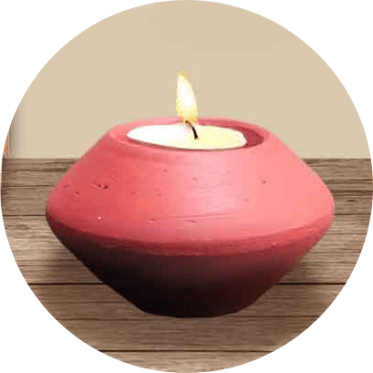 Pebble Tealight Holder (Pack of 4) | Pebble Tealight Holder |
