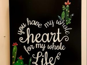 Quoted Wooden Plaque