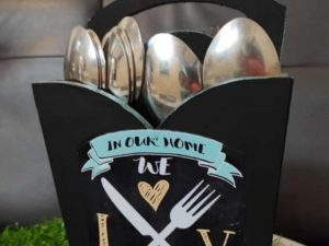 Black Cutlery Holder