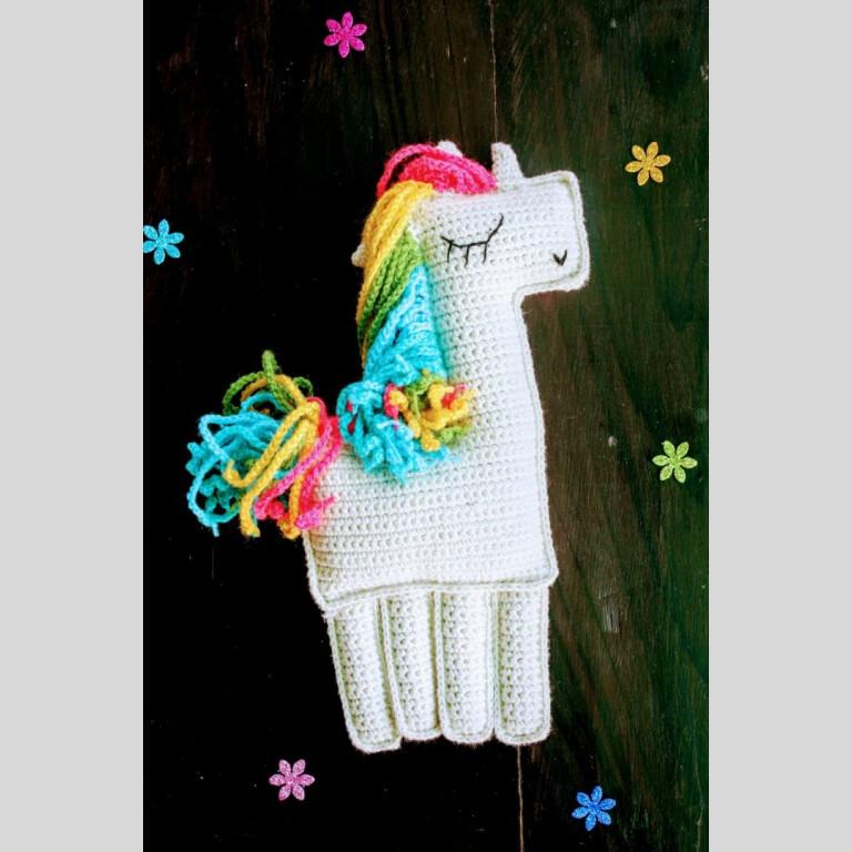 Handcrafted Amigurumi Pink Ragdoll Unicorn