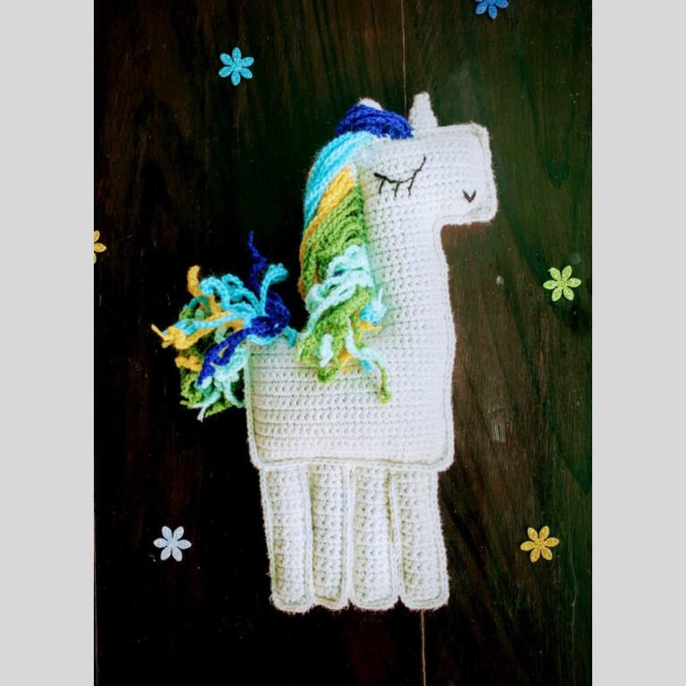 Handmade Amigurumi Blue Ragdoll Unicorn