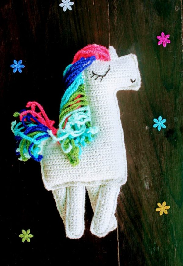 Handmade Amigurumi Multi Colour Ragdoll Unicorn | Amigurumi Multi Colour Ragdoll Unicorn |
