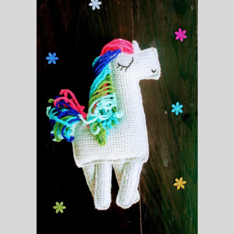 Handmade Amigurumi Multi Colour Ragdoll Unicorn | Amigurumi Multi Colour Ragdoll Unicorn |