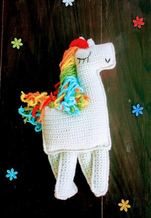 Handmade Amigurumi Rainbow Ragdoll Unicorn