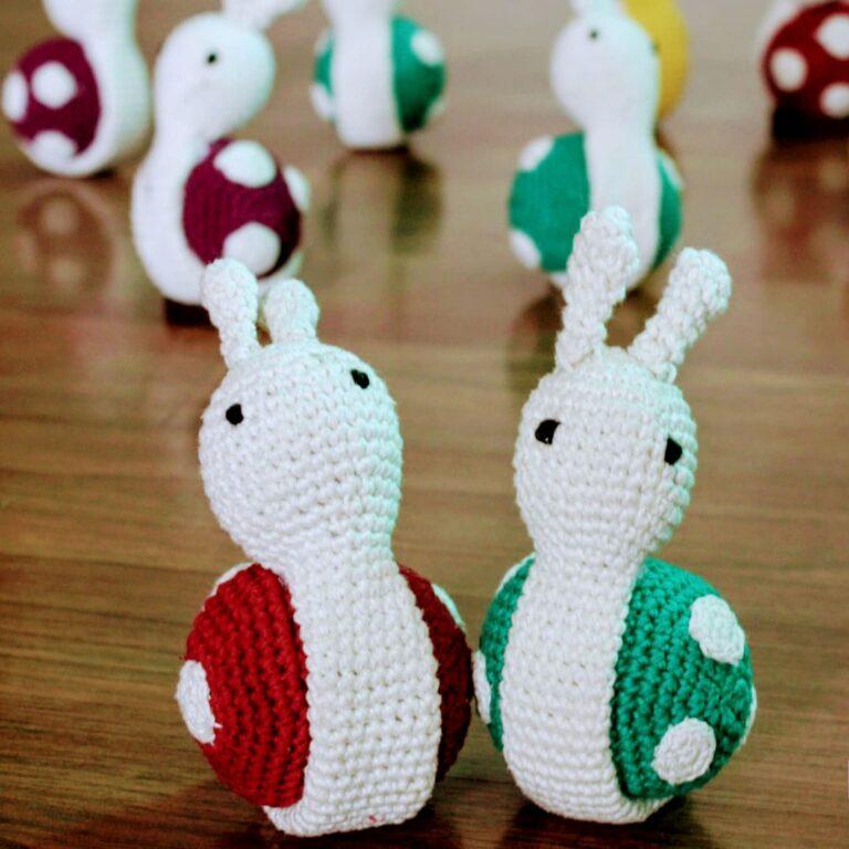 Handcrafted Amigurumi Snail Toy