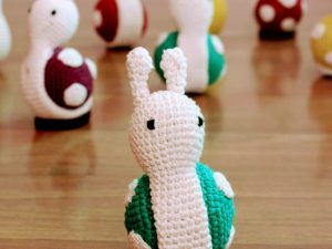 Handcrafted Amigurumi Snail Rattle