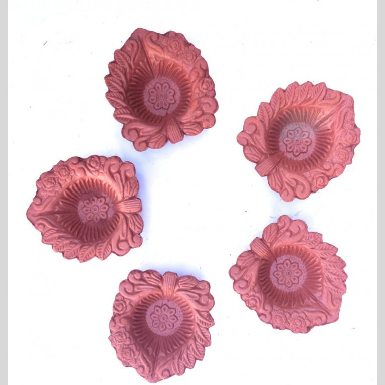 Handpainted Terracotta Clay Diyas