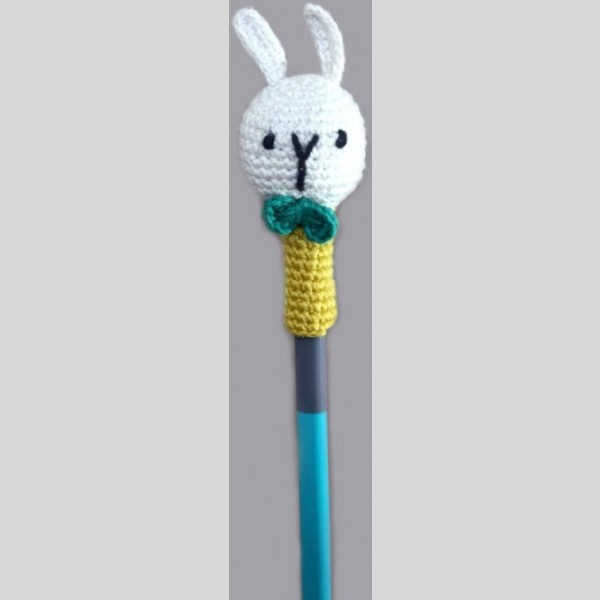 Amigurumi Pencil Topper Random Colour Bunny Set