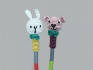 Handcrafted Amigurumi Random Color Pencil Topper - 2Rabbit+ 2Bear combo