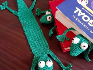 Handcrafted Amigurumi Gecko Bookmark