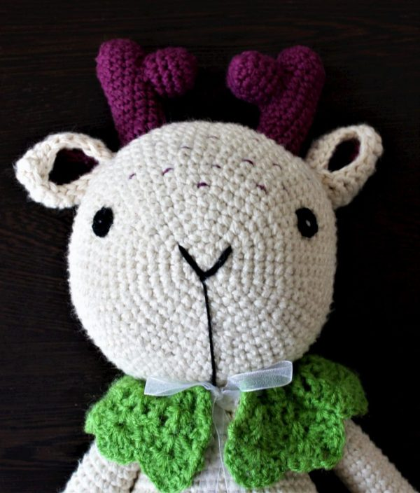 Handmade Amigurumi Purple Cuddles - The Deer