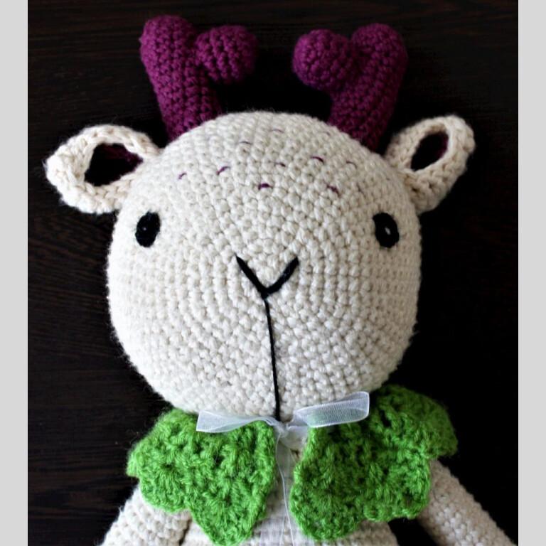Handmade Amigurumi Purple Cuddles - The Deer