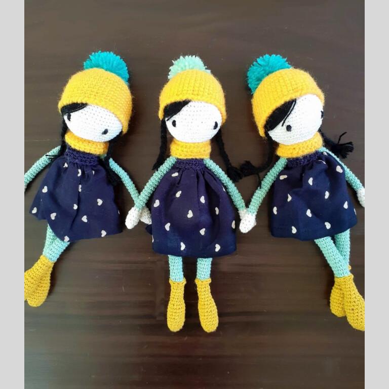 Handmade Amigurumi Tia Doll