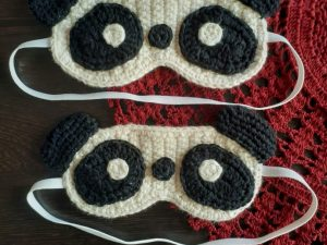 Handmade Amigurumi Panda Sleep Eye Mask