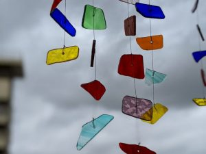 Stained Glass X Rainbow Windchime