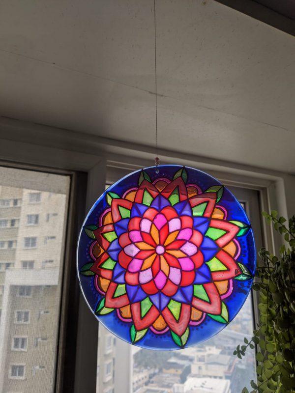 Zen Glass Mandala Suncatcher | Zen Glass Mandala Suncatcher |