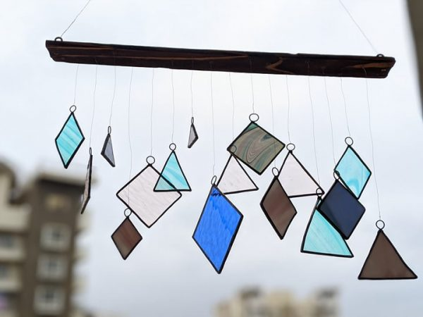 Pastel Stained Glass Windchime