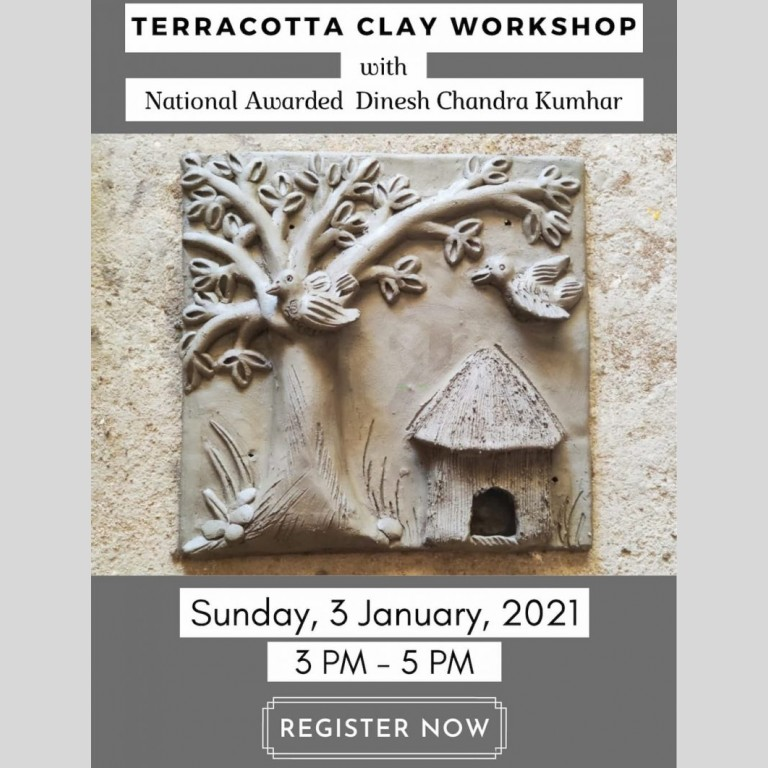 Terracotta Clay Workshop By Dinesh Molela (With Materials)   03rd JAN Terracotta Clay Workshop By Dinesh Molela  