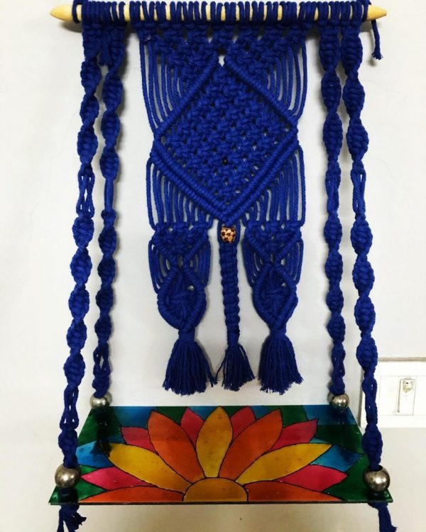 Handmade Macrame Hanging Shelf